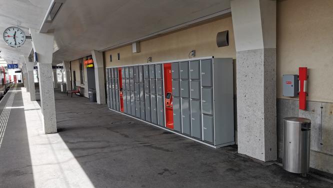 Neue Gepäck-Schliessfach-Anlage in St. Moritz